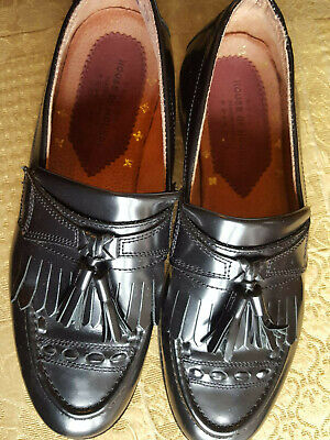 House of Hounds black leather loafers Men's shoes UK 6