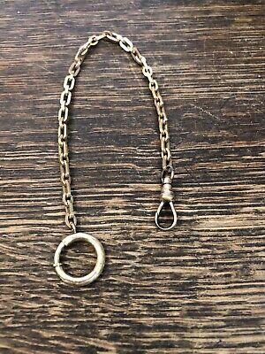 Antique Vintag Gf Gold Filled Victorian Pocket Watch Chain Estate Find