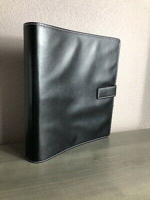 Faux Leather Black Conference Folder Portfolio Ring Binder Organiser