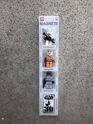Lego Star Wars Magnet Set Sealed 2007 Stormtrooper Y-wing Pilot AT-ST Driver