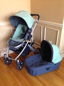 UPPAbaby stroller & bassinet, sage green colour