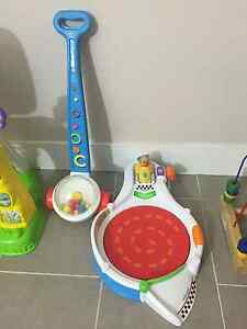 Fisher price laugh & learn speedway car  &Corn Popper Push Toy