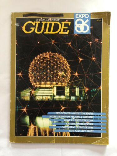 Expo 86 Official Souvenir Guide Full Color with Zone by Zone Site Tour
