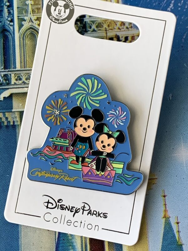 2021 Disney Parks Contemporary Resort Mickey & Minnie Mouse Monorail Pin