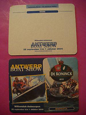 Beer Coaster ~ De Koninck Belgian Ale - Antwerp, BELGIUM Boat Show ~ Beneteau 25