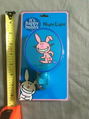 Happy Bunny night light Jim Benton standard wall electric electrical socket