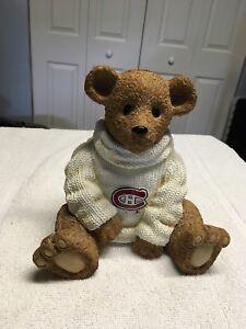 Montreal Canadiens teddy bear piggy bank