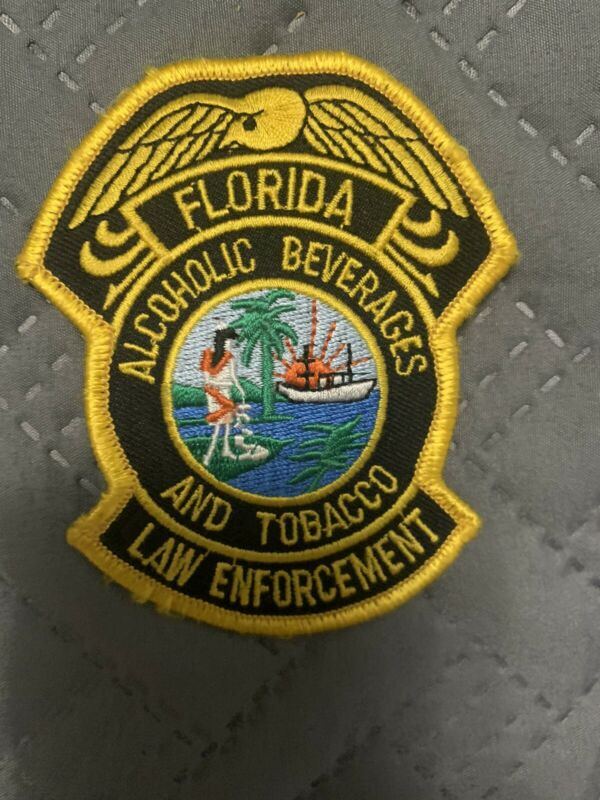 FLORIDA  ALCOHOLIC BEVERAGE TOBACCO POLICE LAW ENFORCEMENT SHOULDER PATCH