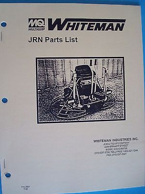 Mq Whiteman Power Trowel Jrn Parts List Pn 2921 795