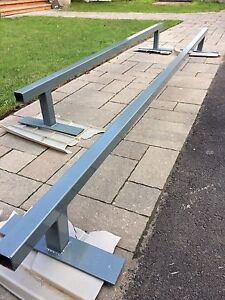 Low bar grind rail for pro scooter or skate board