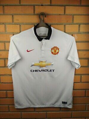 0c77051a1 Manchester United jersey XL 2014 2015 away shirt 611032-106 soccer football  Nike