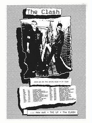 "The Clash White Riot Tour 16"" x 12"" Photo Repro Concert Poster"