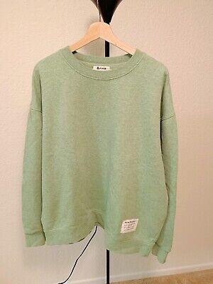 Brand New Acne Studios Fyona Crewneck Loos Fit Sweatshirt Green Size M
