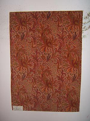 "Lee Jofa ""Jaipur Paisley Velvet"" fabric remnant color coral"
