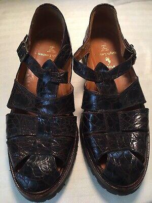 Polo Ralph Lauren Men's Alligator Fisherman Sandals Shoes Brown 9D