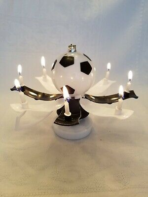 MAGICAL BIRTHDAY CANDLE TROPHY SOCCER BALL Black & White