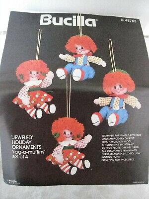 Bucilla Felt Embroidery Christmas Ornament Kit Rag-A-Muffins 48783 Raggedy Ann