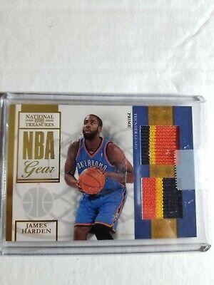 2009-10 National Treasures NBA Gear Dual Prime Rc James Harden #5 Ser #44/49 mnt, usado comprar usado  Enviando para Brazil