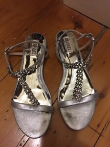 Designer Badgley Mischka jeweled sandals size 9.5 like new