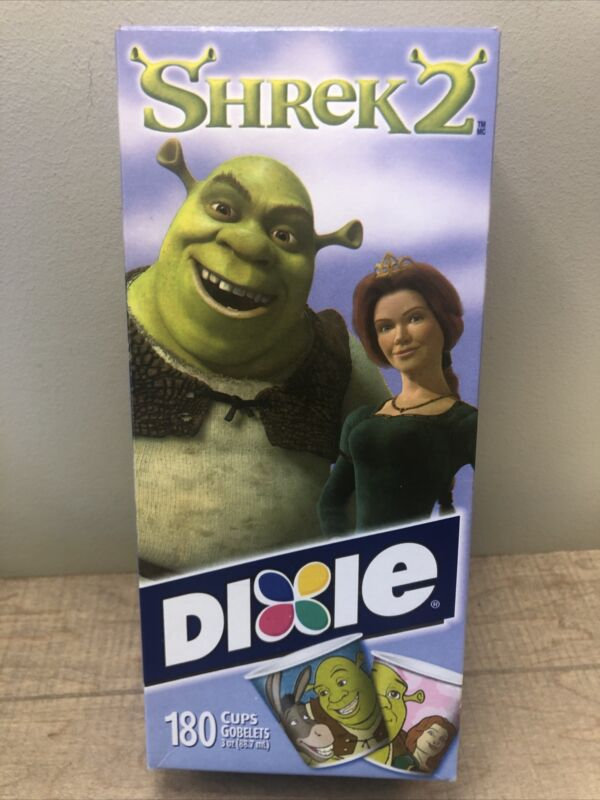 Shrek 2 With Donkey Dixie 3 Oz. Cup Refills 180 Cups NOS