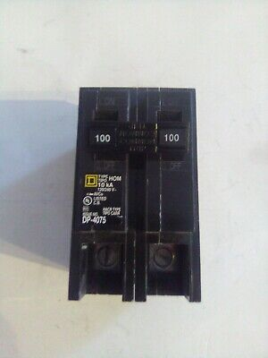New Square D Hom2100 100-amp Two-pole Circuit Breaker