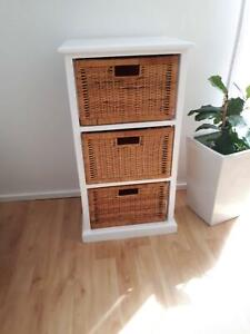 Timber Storage Unite with 3 Baskets