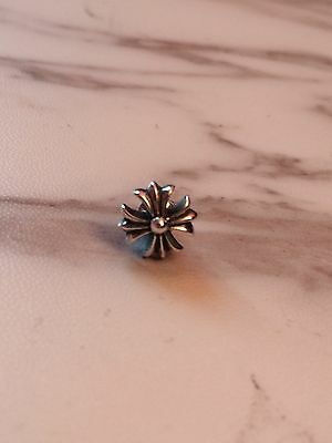 925 silver chrome small cross ear stud earring king baby justin davis