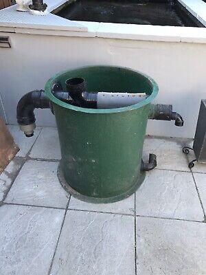 Koi pond filter vortex