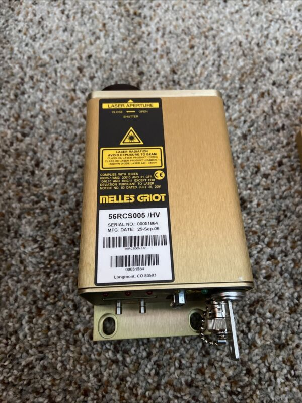 MELLES GRIOT 56RCS005/HV LASER DIODE SYSTEM Good Working Shape!