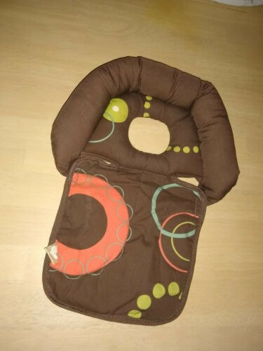 Boppy Noggin Nest Infant Head Support Reversible Stroller Bouncer Swing Brown