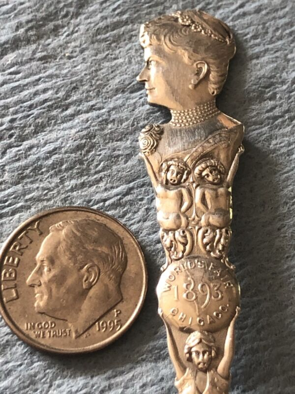 1893 Chicago Worlds Fair Columbian Expo Sterling Feminist Bertha Honore Palmer