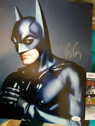 Batman movie George Cloney  Autographed 11x14  color photo JSA  Certified