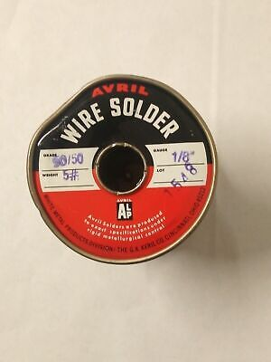 Avril Solid Wire Solder 5050 Grade 5 18 Gauge Free Shipping