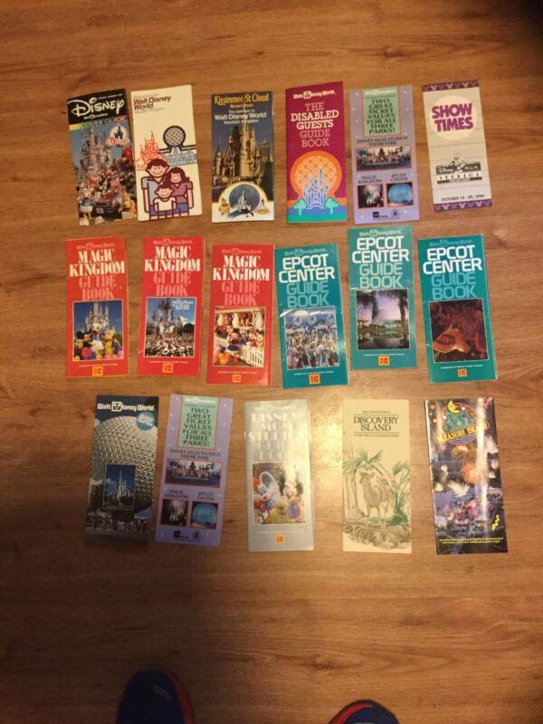 Vintage Paper Ephemera Brochures Disney World USA  1984 -1990