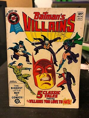 BEST OF DC DIGEST # 14 July 1981: BATMAN'S VILLAINS! ADAMS ART. - Batman's Villains