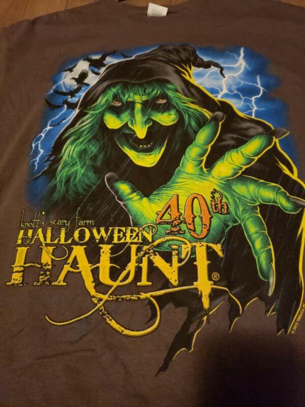 Knotts Scary Farm Halloween Haunt 40th Anniversary t-shirt size XL