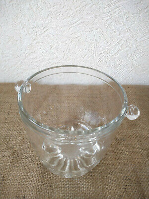 Vintage glass ice bucket.
