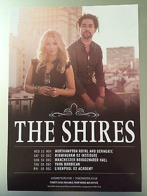 THE SHIRES - 1 x 2016 UK TOUR FLYER (SIZE A5)