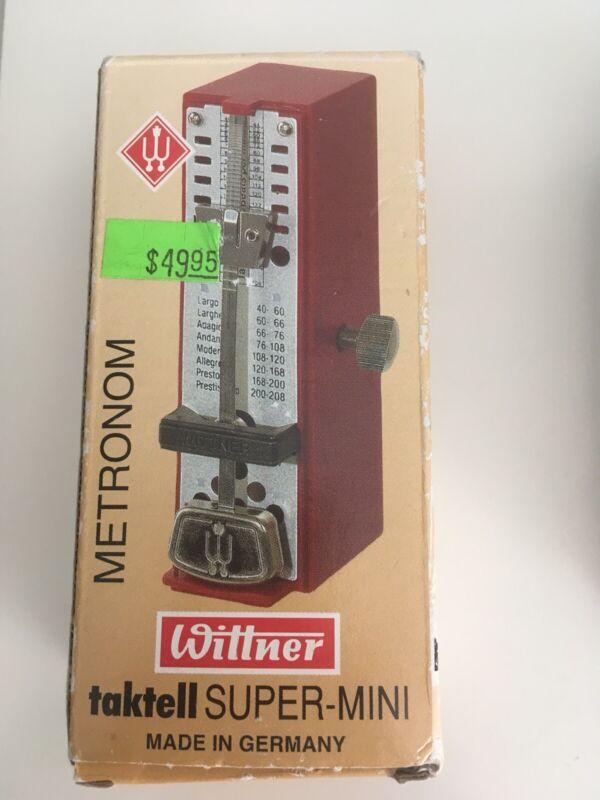 Wittner Taktell Super Mini 886051, Complete in Box, Made in Germany