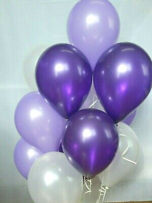 Purple Balloons,Dark, Light Purple and White Shower Decorations Birthday Party (Purple And White Birthday Decorations)
