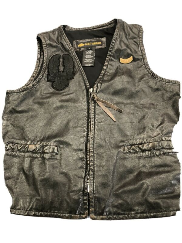 Harley Davidson Leather Vest Men's Medium M