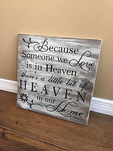Handmade Heaven Sign (distressed)