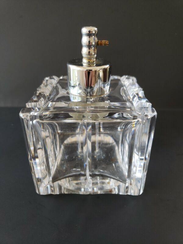 Heavy Val St Lambert Glass Perfume Bottle Atomizer
