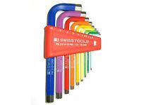 1,5-8mm PB Swiss Tools 211H-8 Satz lange Stiftschlüssel für Innensechskantschr