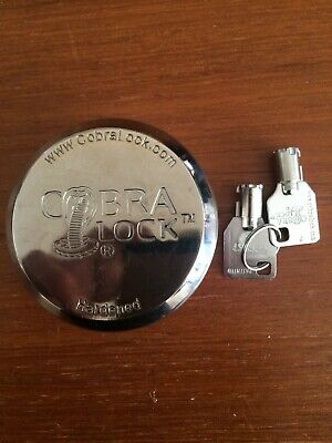 One1 Cobra Round Tubular Key- Hidden Shackle Puck Padlock New Keyed Alike