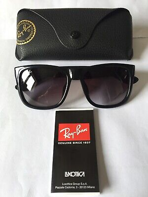 """RAYBAN GENTS RB4165 """"JUSTIN"""" SUNGLASSES IN COLOUR 601 BLACK GREY GRADIENT LENSES"""
