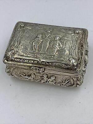 1911 Sterling Silver Box Victorian Pill Box Victorian Sterling Silver Birmingham Hallmark Antique Miniature Miniature Box