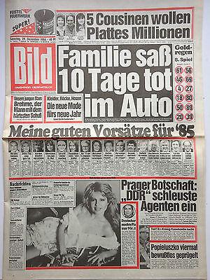 Bild Zeitung 29.12.1984, Pia Zadora, Ingrid Steeger, Elvis, Joanne Latham