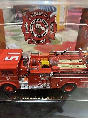 Code 3 1:64 1973 Ward LaFrance LA County Engine 51 Fire Truck EMERGENCY!