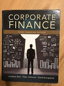 Corporate finance (3rd Canadian edition)